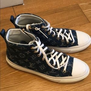 2fa86451d407 Louis Vuitton stellar sneaker boot denim